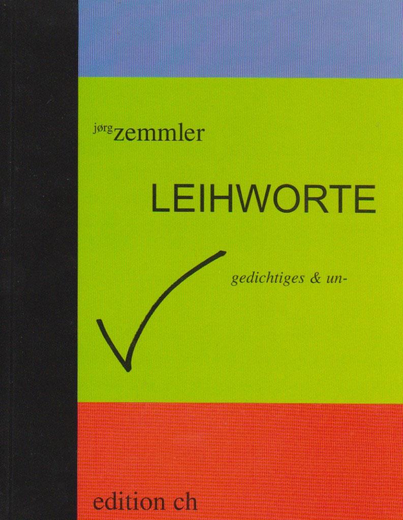 Cover Jörg Zemmler Leihworte